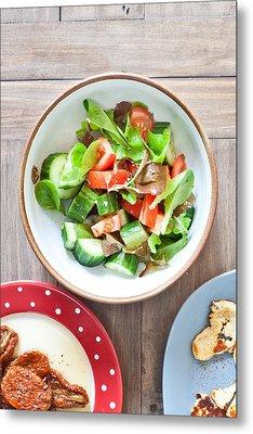 Salad Metal Print by Tom Gowanlock