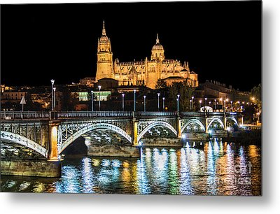 Salamanca At Night Metal Print by JR Photography