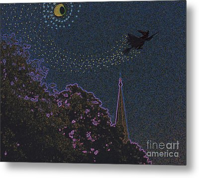 Salem Witch Moon 2 By Jrr Metal Print by First Star Art