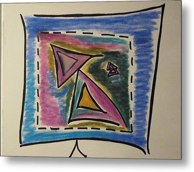 Sales On Tv Metal Print by Lois Picasso