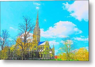 Salisbury Cathedral Metal Print by Andrew Middleton