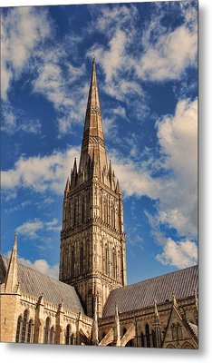 Metal Print featuring the photograph Salisbury Cathedral by Oscar Alvarez Jr
