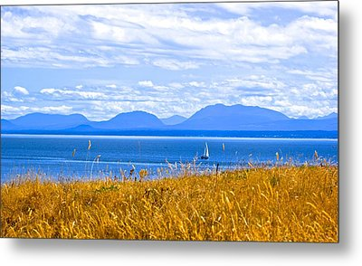 Salish Sea From Hornby Island Metal Print by Brian Sereda
