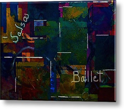 Metal Print featuring the painting Salsa Ballet by Lisa Kaiser