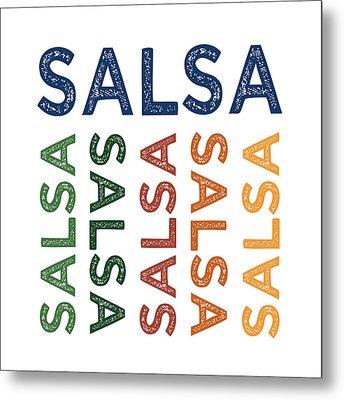 Salsa Cute Colorful Metal Print