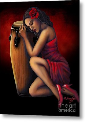Salsa Heartbeat Metal Print by Tammy Yee