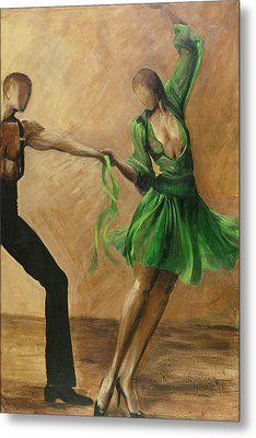 Metal Print featuring the painting Salsa by Sheri  Chakamian