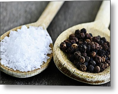 Salt And Pepper Metal Print by Elena Elisseeva