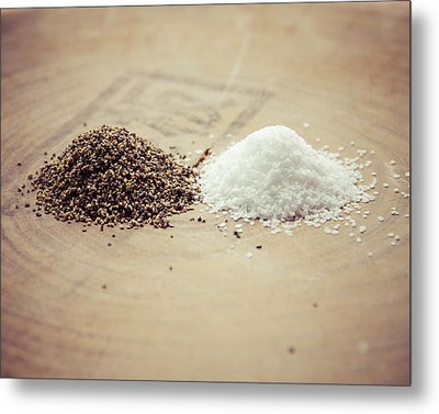 Salt And Pepper Metal Print by Takeshi Okada