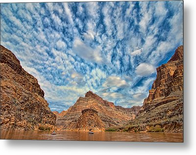 Salt Creek Clouds Metal Print by Britt Runyon