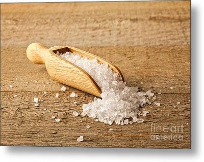 Salt Crystals In A Scoop Metal Print by Colin and Linda McKie