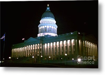 Salt Lake Capitol Building Metal Print by Chris Tarpening