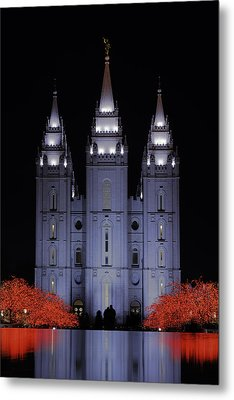 Salt Lake Christmas Metal Print