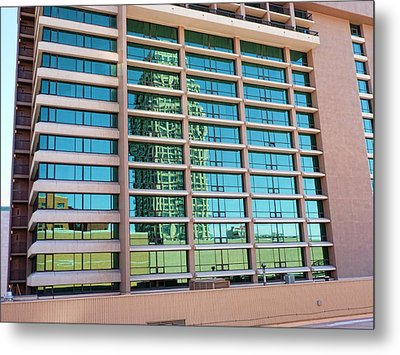Metal Print featuring the photograph Salt Lake City Architecture Reflection by Ely Arsha