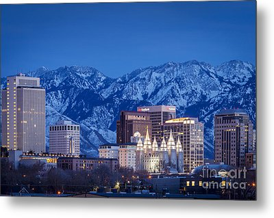 Salt Lake City Metal Print by Brian Jannsen