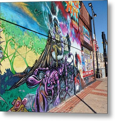 Metal Print featuring the photograph Salt Lake City - Mural 3 by Ely Arsha