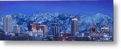 Salt Lake City Skyline Metal Print