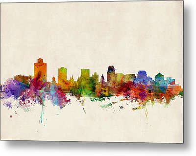 Salt Lake City Skyline Metal Print
