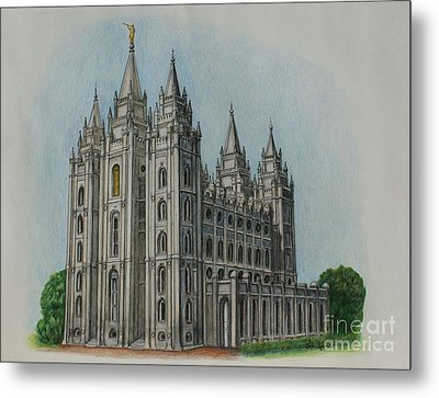 Salt Lake City Temple I Metal Print