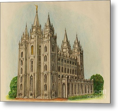 Salt Lake City Temple II Metal Print