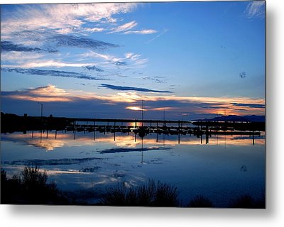 Salt Lake Marina Sunset Metal Print by Matt Harang
