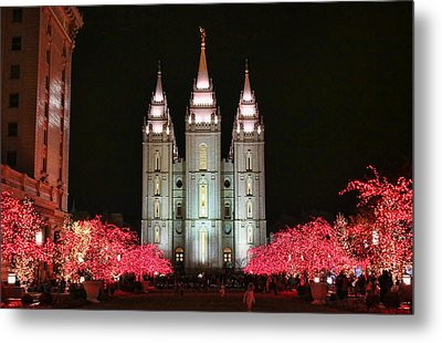 Metal Print featuring the photograph Salt Lake Temple - 1 by Ely Arsha