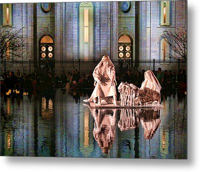 Metal Print featuring the photograph Salt Lake Temple - 2 by Ely Arsha