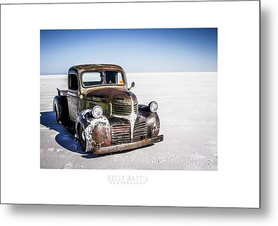 Salt Metal Pick Up Truck Metal Print by Holly Martin