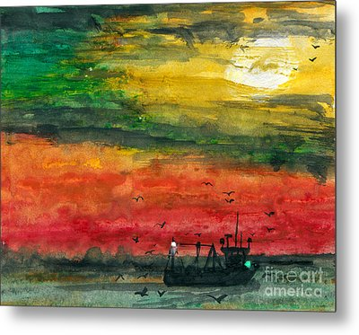Salt Water Metal Print by R Kyllo