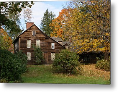 Saltbox In Fall Metal Print