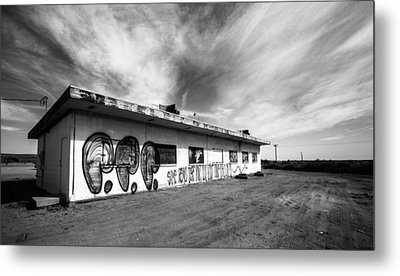 Metal Print featuring the photograph Salton Sea Cafe by Robert  Aycock