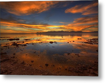 Salton Sea Color Metal Print by Peter Tellone