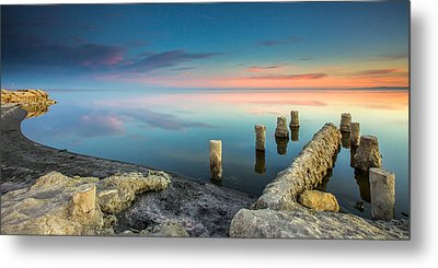 Metal Print featuring the photograph Salton Sea Reflections by Robert  Aycock