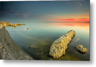 Metal Print featuring the photograph Salton Sea Sunset by Robert  Aycock