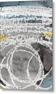 Saltwater- Abstract Painting Metal Print by Linda Woods