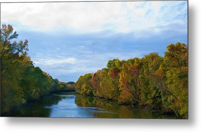 Saluda River In The Fall Metal Print