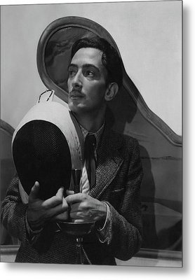 Salvador Dali Holding Fencing Equipment Metal Print by Cecil Beaton