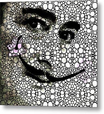 Salvador Dali - Surreal - Stone Rock'd Art By Sharon Cummings Metal Print by Sharon Cummings