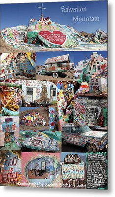 Salvation Mountain Metal Print by David Salter
