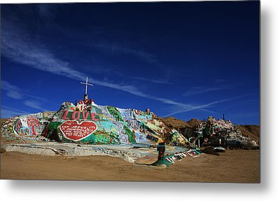 Salvation Mountain Metal Print by Laurie Search