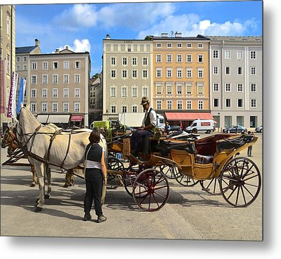 Salzburg Cabbie Metal Print by Marty  Cobcroft