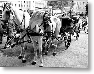 Salzburg Holiday Workers Metal Print by Marty  Cobcroft