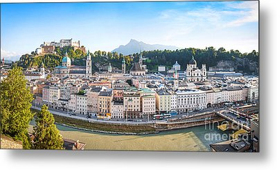 Salzburg Metal Print by JR Photography