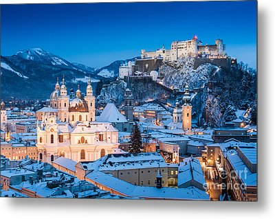 Salzburg Winter Romance Metal Print