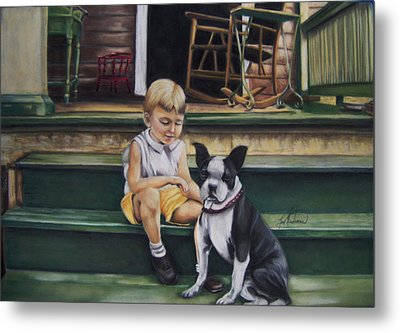 Sam And Gippy Metal Print by Leah Wiedemer