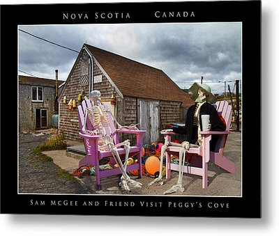 Sam And Peggy's Cove Metal Print by Betsy Knapp