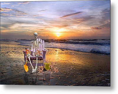 Sam Releases The Starfish Metal Print by Betsy Knapp