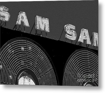 Sam The Record Man At Night Metal Print