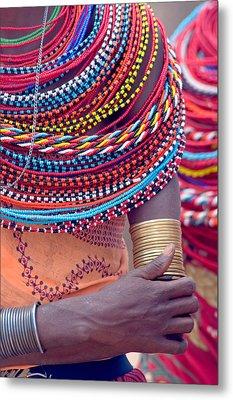 Samburu Tribal Beadwork Metal Print