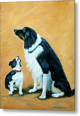 Metal Print featuring the painting Sammy And Breagh by Fran Brooks